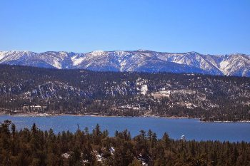 Big Bear Lake from the other side, near Fawnskin.