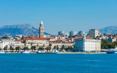 The coastline of Split, Croatia.