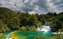 Krka's famous cascading waterfalls