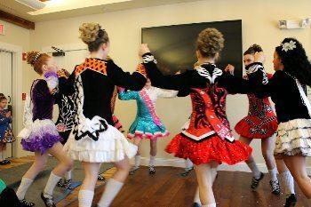 The Irish Step Dancing demonstration