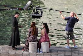 A scene being filmed for Game of Thrones