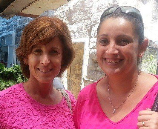 Elisa (left) and Christina