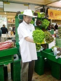 organic lettuce at museum