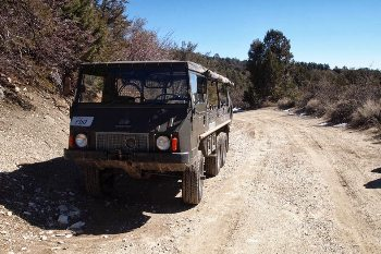 The best way to see the back country is in the Pinzauer all terrain vehicle