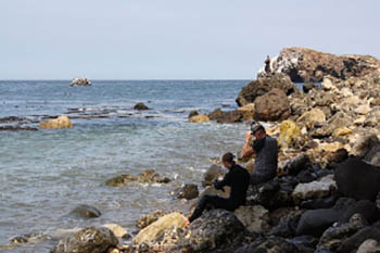 Snorkeling off Santa Cruz, Channel Islands, California. Loren Klute photos.