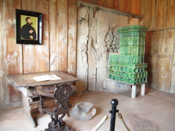 Luther's workroom in Wartburg Castle.
