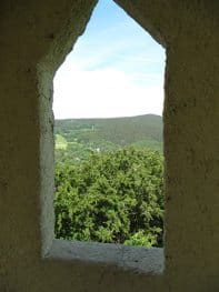 View of the Thuringian Forest from Wartburg Castle.