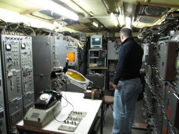 Cold War bunker's radio area.