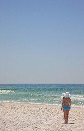 Beach Lady at Grayton Beach.