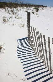 Grayton Beach State Park Fence in Sand.