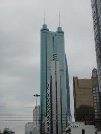 The Di Wang Building, an iconic skyscraper in Shenzhen, China. photos by Darian Gier