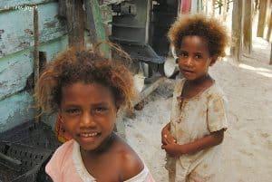 Local girls in village.
