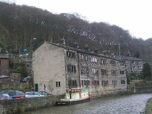 Hebden Bridge in the Pennines.