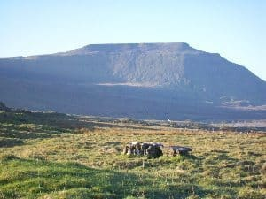 Ingleborough mountain, in the Yorkshire Dales.