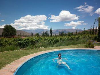 Enjoying the pool at Miraluna.