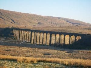 Ribblehead viaduct in the Yorkshire Dales.