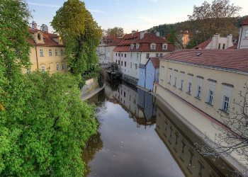 A canal in Czech countryside