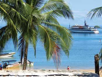 Cruising on a small ship in Panama.