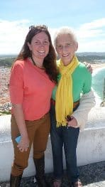 Edna and her guide Margaret on an Odyssey tour in Portugal.