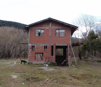 Accommodations for workers at the farm in Argentina Patagonia. photos by Melanie Gupta..