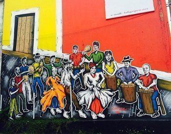 Original street art in San Juan Puerto Rico.