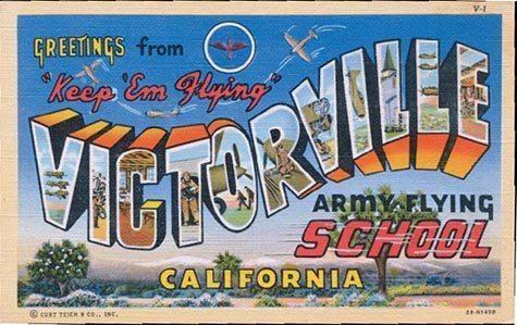 Victorville CA Postcard