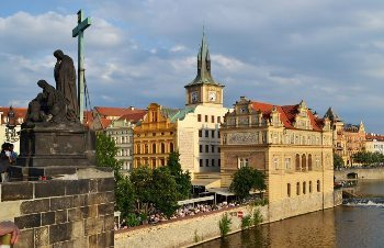 View from the Charles Bridge in Prague.