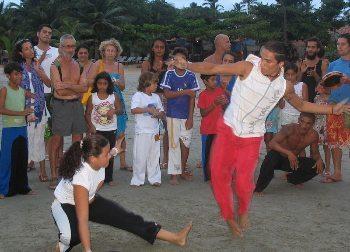 Capoeira performance.