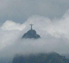 Cristo Redentor atop Corovado above Rio.