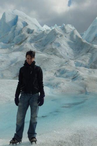 The author, ice-trekker
