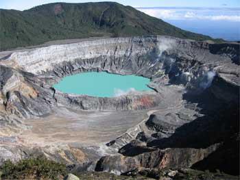Poas Volcano Costa Rica.