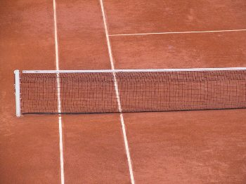 The famous red clay courts.