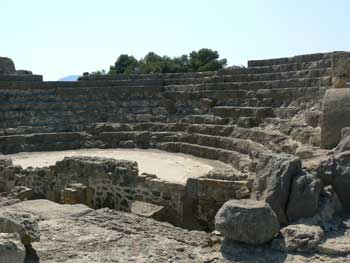 Amphitheater at Nora, in Sardinia.