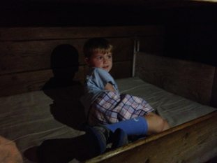 Our little friend in the whaler's bunk. Jamie Kimmel photo