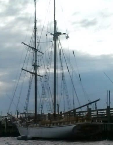 A schooner on the harbor tour.