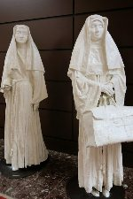 Ghost Nuns in the Crown Plaza hotel lobby in Indy. Margie Goldsmith photo.