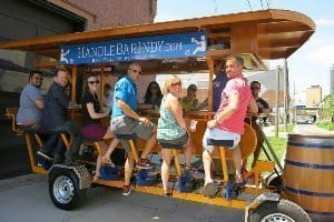 HandleBar.Indy is a rolling party complete with music.
