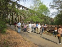 The famous railroad trestle in Athens GA that was saved after REM named an album after it. Herb Hiller photos.
