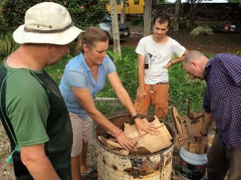 Making bio char at Santa Lucia. Mark Aquilina photo.