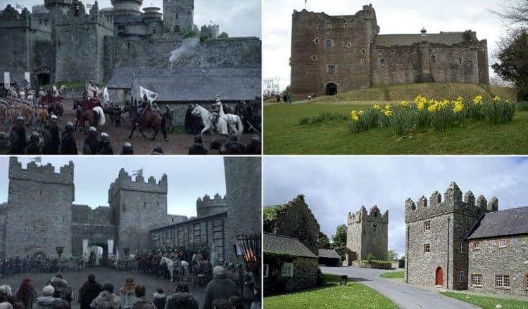 Winterfell is transformed from Castle Ward. Swide photo
