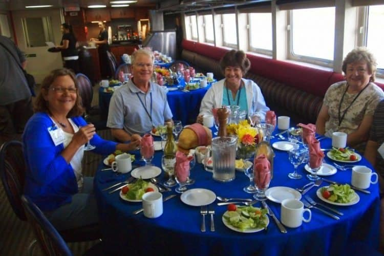 family dining on the Grand Caribe