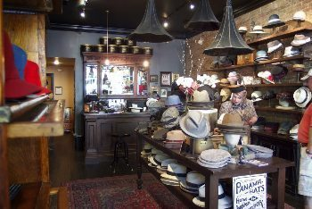 Goorin Bros hat shop, downtown Nashville.
