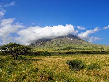 Mt Lengai in the sunshine.