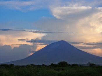 Mt Lengai, Tanzania, at nighttime. Adam Black photos.