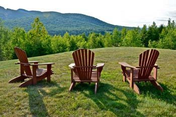 Adirondack Chairs are a signature icon of upstate New York. Practically everyone relaxes in one in the evening.