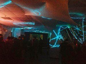 Le Bloc's inaugural mega underground party.