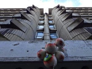 Le Bloc is located here, in this Paris apartment building that's been taken over by squatters. Joanna Gonzalez photos.