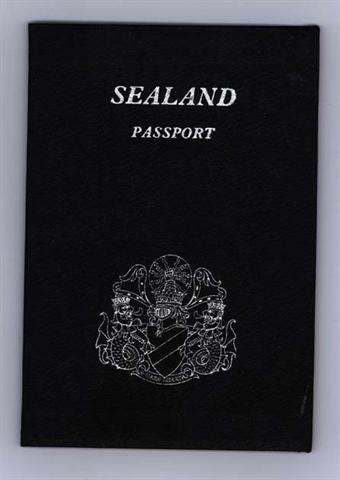 An official Sealand passport, the source of much contention during Sealand's lifetime.