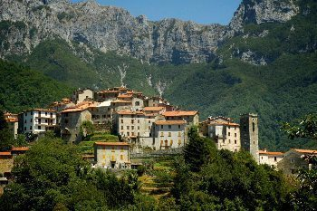 The medieval village of Pruno, high in the Alpi Apuane, just a few miles from the northern Tuscany coast. Photos by John Keahey