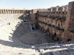 Aspendos Roman forum.